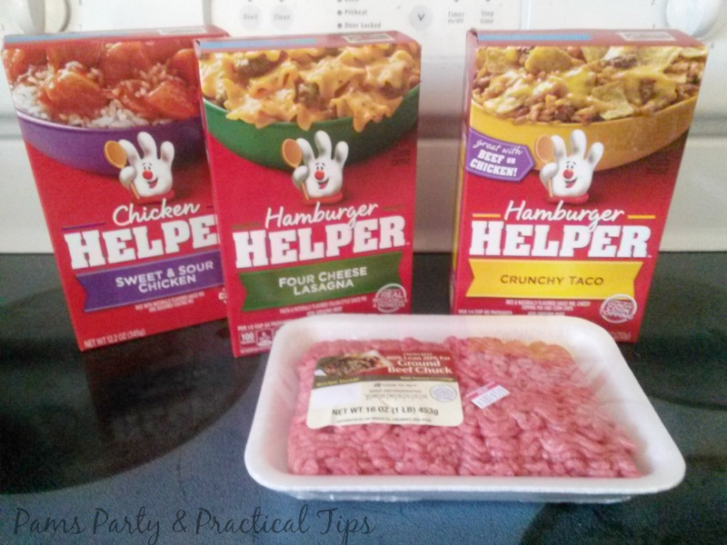 Free ground beef, four cheese lasagna , Hamburger Helper