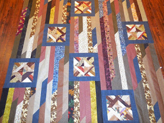 Odd Block Strip Quilt