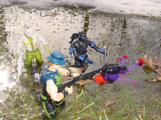 1989 Stalker, Night Force Muskrat, Toys R Us Exclusive, Funskool Hydro Viper, 2000 ARAHC Snake Eyes