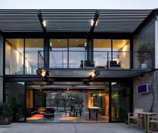desain rumah minimalis industrial