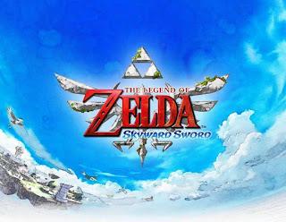 Pantalla de inicio del videojuego: The Legend of Zelda: Skyward Sword (Nintendo Wii, 2011)