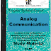 Analog Communication (AC) PDF Study Materials cum Notes, Engineering E-Books Free Download