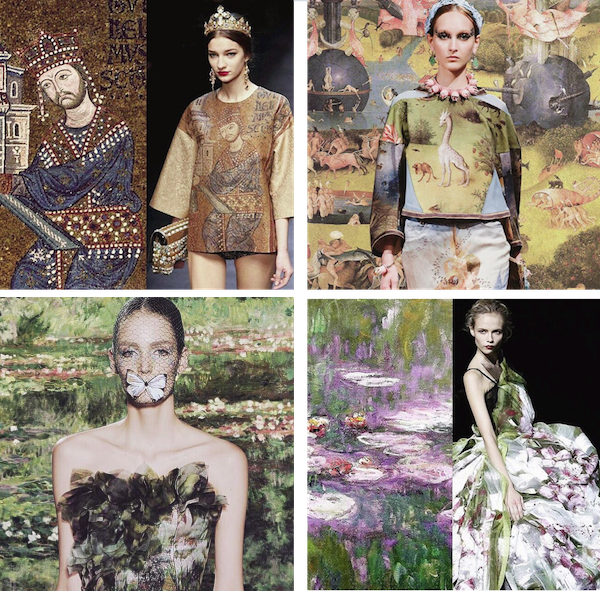 when fashion meets art, fashion and art, dolce gabbana art, undercover jerome bosch