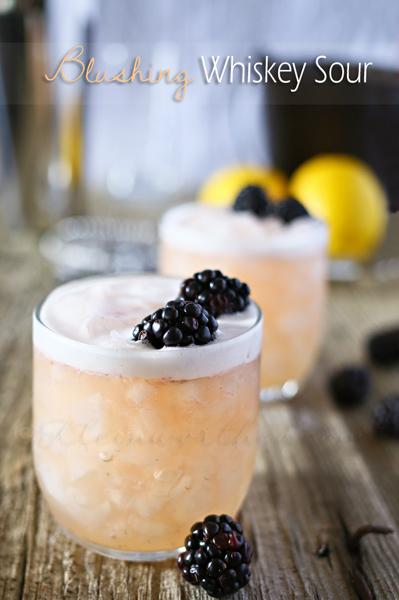 Blushing Whiskey Sour image