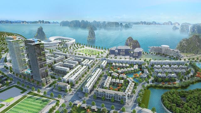 Phối cảnh tổng thể của dự án Mon Bay Hạ Long