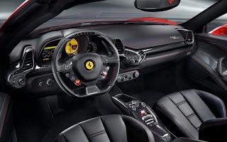Ferrari 458 inner view