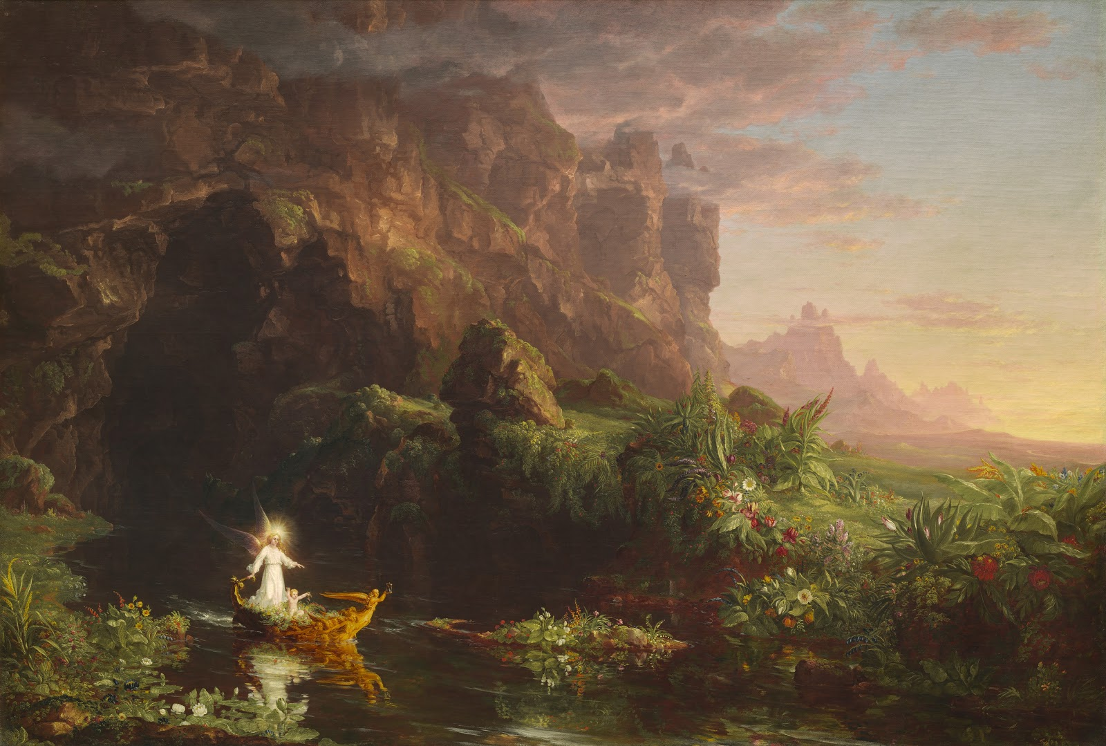 Thomas  Cole     The  Voyage  of  Life     Childhood C     National  Gallery  of  Art