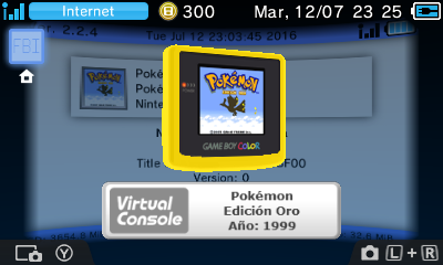 Ultimate GBC VC Injector para 3DS v1 7b Download - Novo 3DS