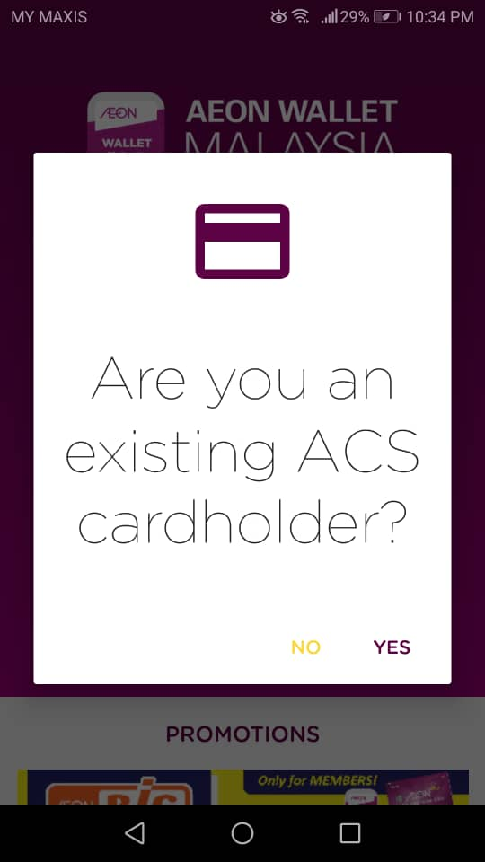 Are you an existing ACS cardholder?