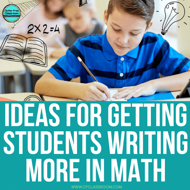 Are you looking for ideas to get elementary students writing in math? If so, you found the right place! This blog post is packed with awesome ideas and even some journal printables for teachers. Check it out now! #writinginmath #writingactivities #mathjournal #mathjournals #elementarymath