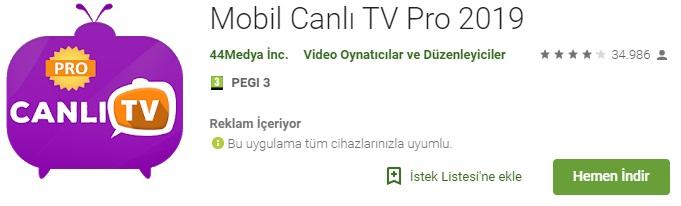 canlı tv, iptv, mobil tv, canlı tv pro, android tv, smart tv