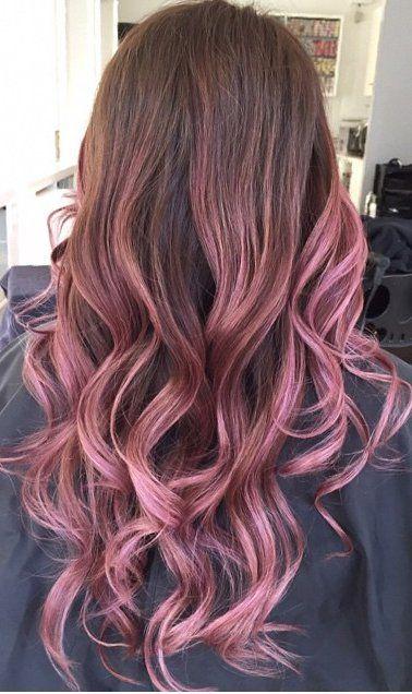 mechas balayage rosa