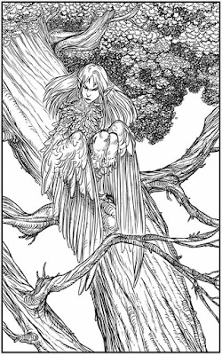 winged fantasy creatures adult coloring pages free