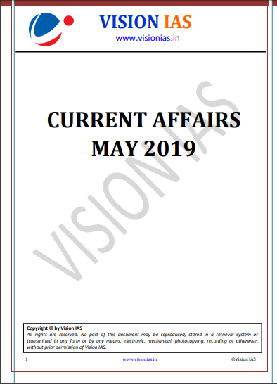 Vision IAS Monthly Current Affair May 2019 Pdf Download - VISION