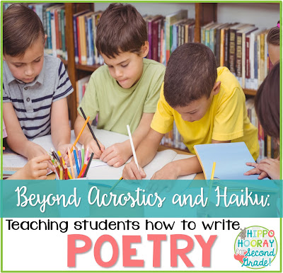 Poetry is SO much more than rhyming verse, acrostics & haiku! Check out this post to learn ways to teach your students to focus on the beauty and power of words.