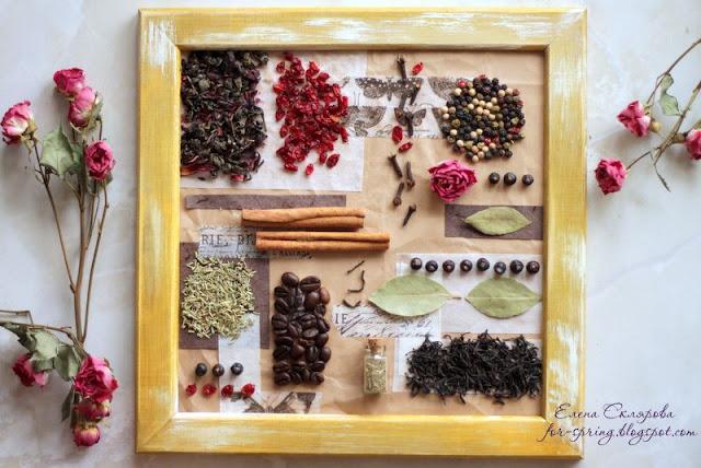 как сделать панно для кухни своими руками, как сделать панно из продуктов, как сделать панно из специй, панно для кухни, настенные украшения своими рукаит, декор для куъни своими руками,