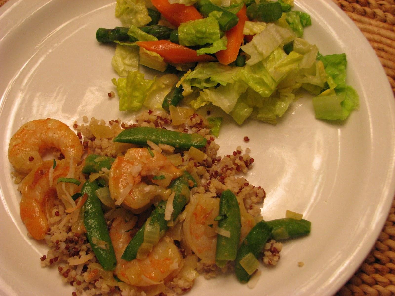 TheFultonGirls: (Spicy) Coconut Shrimp with Quinoa