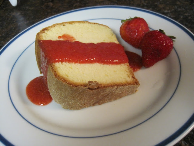 How to Make Lime Pound Cake with Strawberry Sauce
