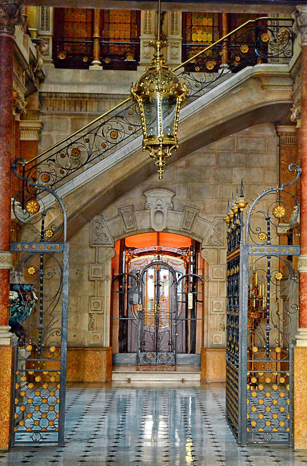 Main Entrance Hall at Casa Modernista in Rambla Catalunya, Barcelona