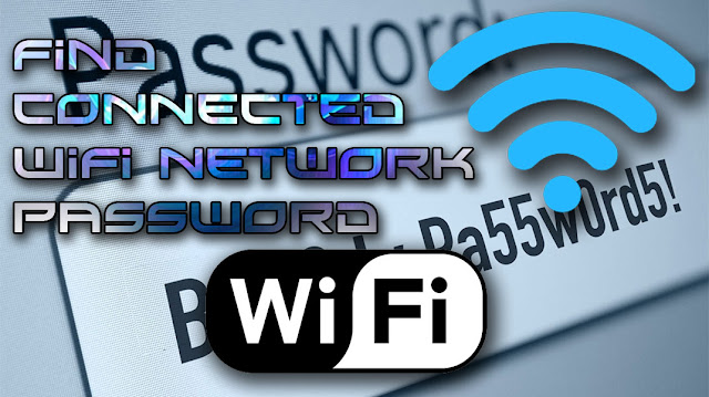Find connected wifi network password
