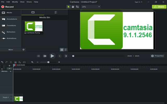 تفعيل برنامج تصوير شاشة الكمبيوتر بالفيديوCamtasia 9.1.1.2546 آخر إصدار