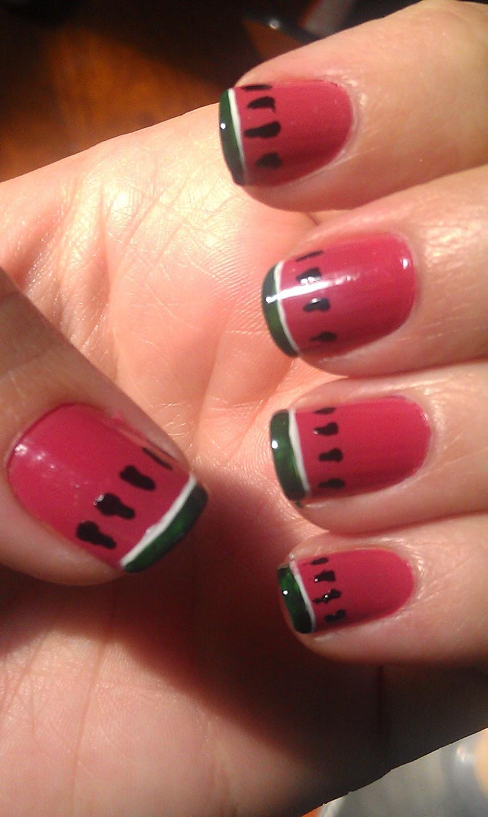 My Nail Polish Obsession My Birthday Nails: My Nail Diary: Summer Challenge Day 2- Picnic