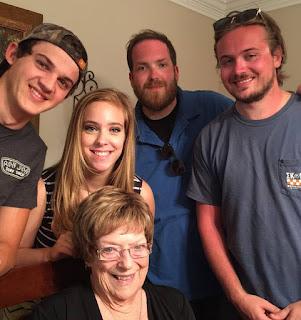 Betty Morton and grandkids