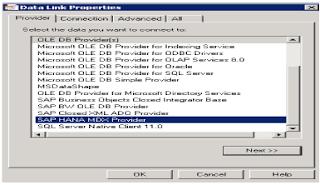 SAP HANA Excel Integration