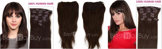 ekstenzije za dugu braon kosu
