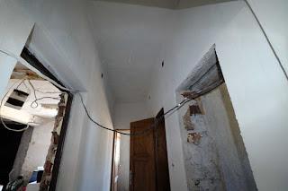 Corridor plastered