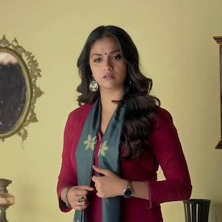 Keerthy Suresh in Maroon with Cute and Lovely Smile in Latest Ad
