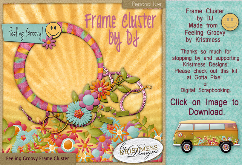 Feeling Groovy Frame Cluster by Kristmess Designs