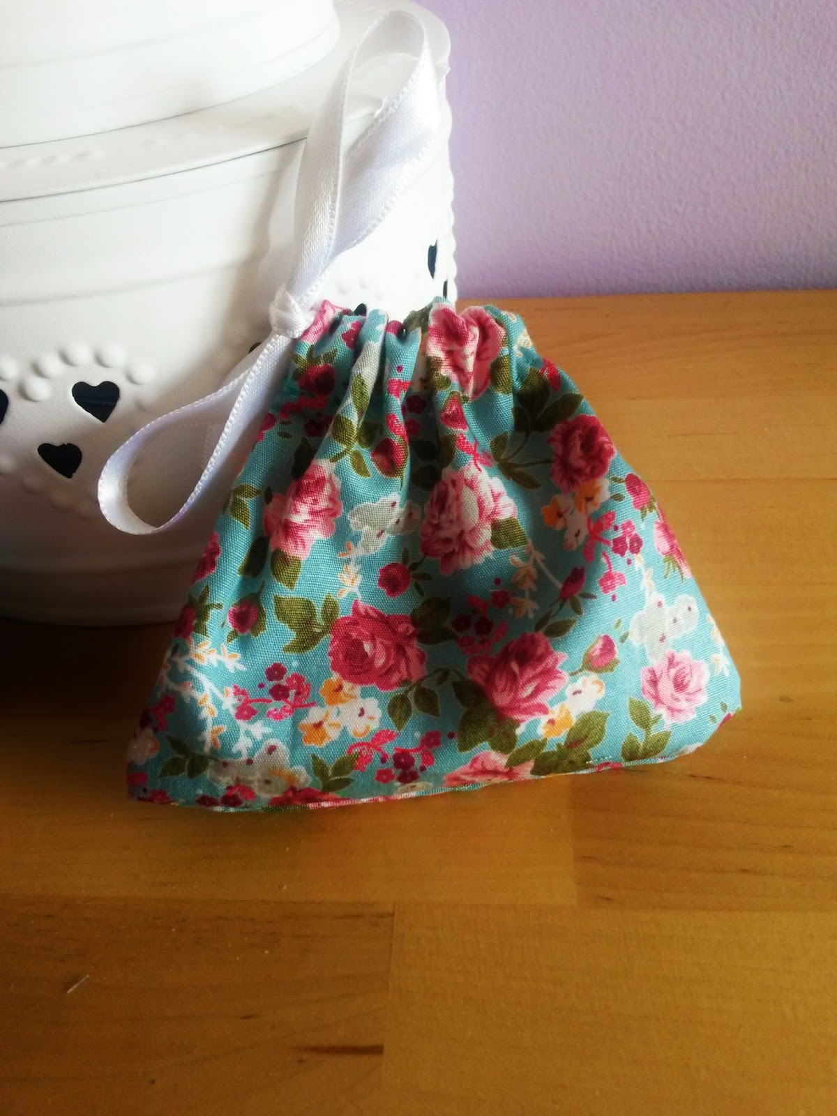 Homemade lavender scent bag