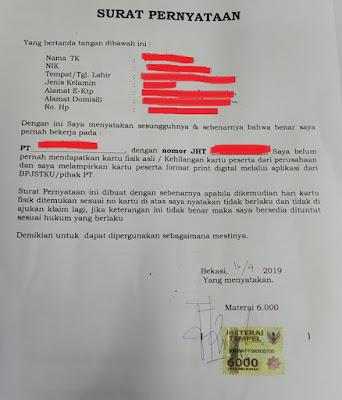 Claim BPJS Ketenagakerjaan di Bekasi Kota, Tanpa Surat Kehilangan dari Kepolisian