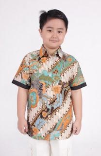 Model baju batik anak laki-laki tradisional gaul