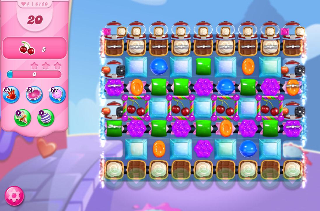 Candy Crush Saga level 5760