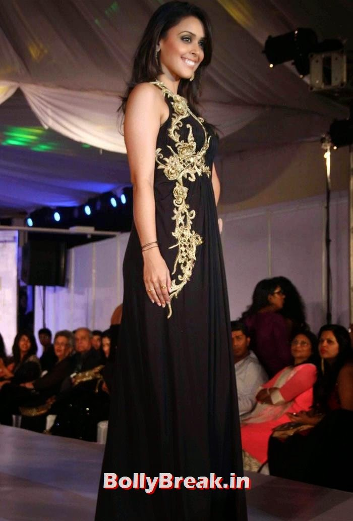 Hrishita Bhatt, Ex Bigg Boss Contestants at Welingkar's Tribute Fashion Show 2014
