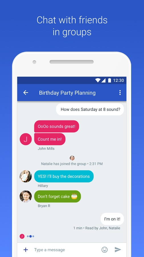 Enhanced SMS app from google competing with Apple iMessage