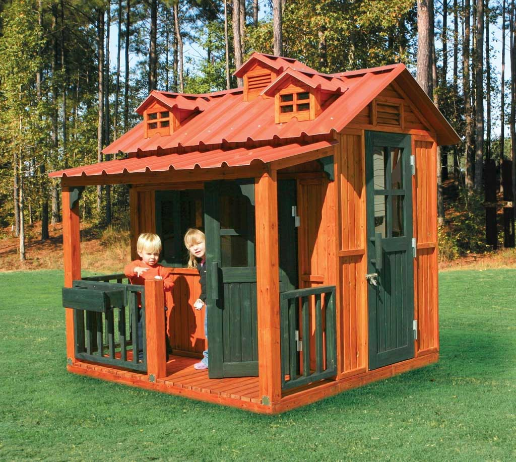 Diy girls and boys playhouse designs for backyard bahay ofw for Cabane jardin pvc