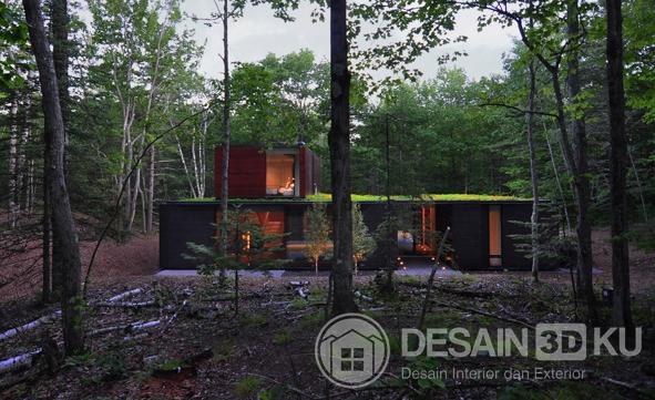 Desain Rumah Minimalis Terkini Dengan Taman Indah di Atap