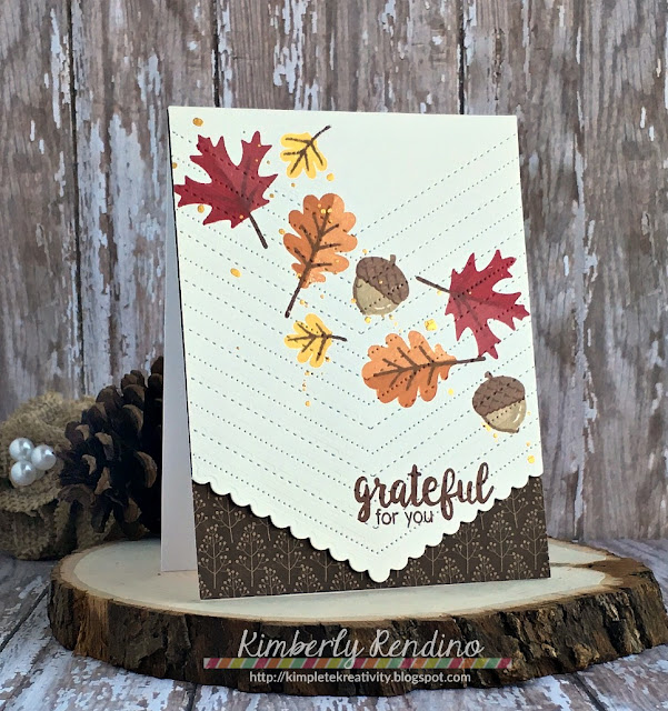 Sunny Studio Stamps: Fishtail Banner II & Autumn Splendor Fall Leaves Card by Kimberly Rendino.