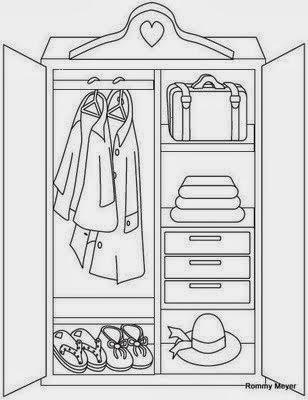 Maestra de primaria muebles y objetos de la casa para for Cuarto para colorear