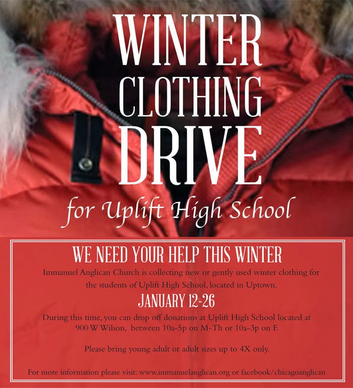 Uptown Update Winter Clothing Drive For Uplift Students - clothing drive flyer template