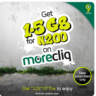 9mobile 1.5GB for N200 cheap Data