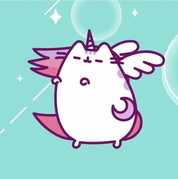 dibujo gato unicornio