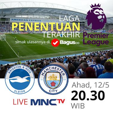 Prediksi Brighton and Hove Albion vs Manchester City: Batu Sandungan Juara?