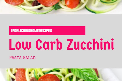 Low Carb  Zucchini Pasta Salad