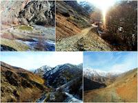 Поход на 21 километр ущелья Варзоб, горы Таджикистана