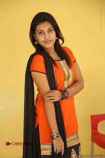 Telugu Actress Chandana Stills in Salwar Kameez at Karam Dosa Movie Press Meet  0036.JPG