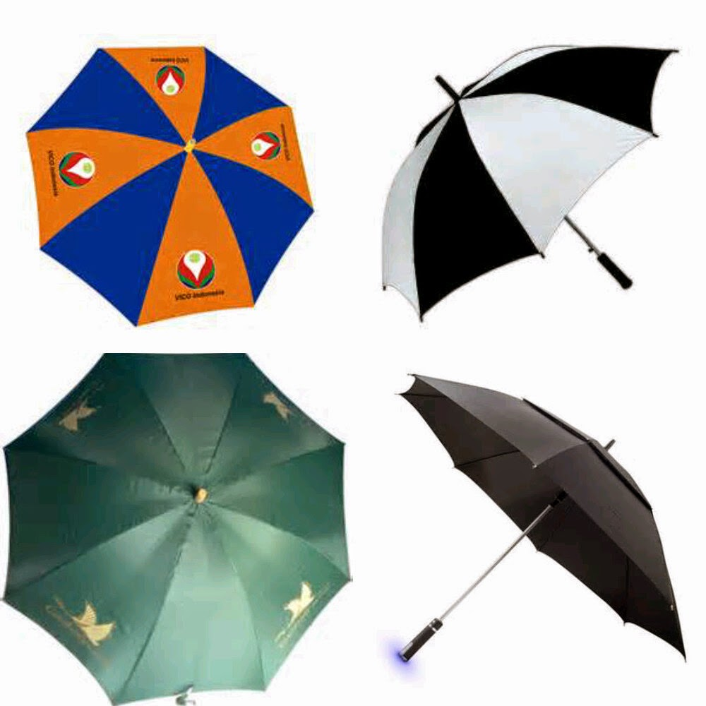 Payung Golf, Payung Standart, Payung Lipat. Sangat cocok untuk sarana Promosi / Souvenir Perusahaan.